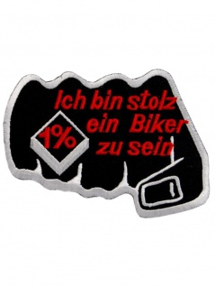 Aufnäher Ich bin stolz ein Biker zu sein