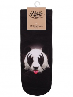 Sneaker Socken bedruckt KISS Panda