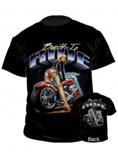 Biker T-Shirt Built to Ride