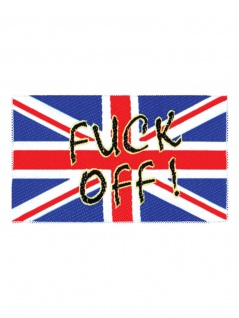 Aufnäher Flagge England Fuck Off