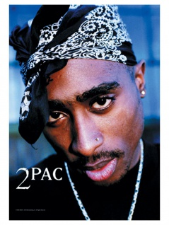 2 Pac Poster Fahne Drum
