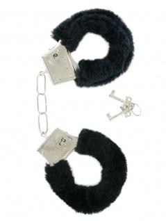 Handschellen mit Fell schwarz