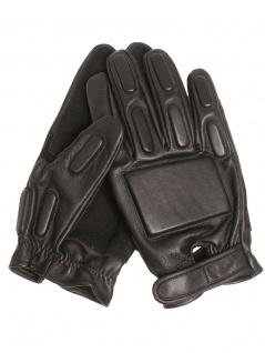 Security Einsatzhandschuhe Leder schwarz