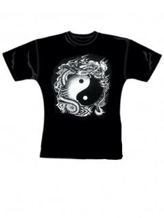 Girl T-Shirt Yin Yang Drache