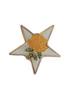 Anstecker Pin Stern mit Blume