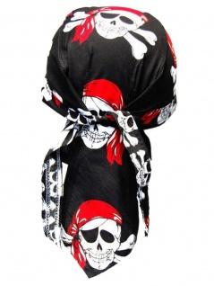 Bandana Cap Piraten rot schwarz
