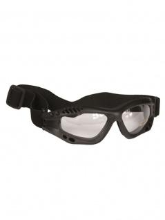 Biker Commando Schutzbrille schwarz klar