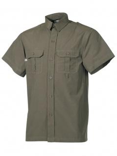 Kurzarm Outdoor Hemd oliv