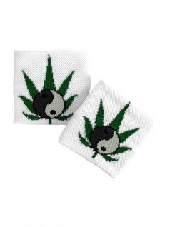 Schweißband Yin Yang mit Hanfblatt