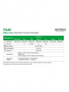 Taktisches Jagdset TA40 Set 1040 Lumen LED Taschenlampe - Vorschau 2