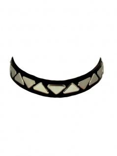 Leder Choker Halsband Dreieck Nieten