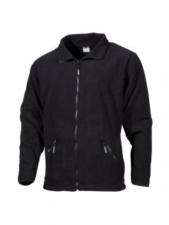 Fleece Jacke schwarz mit Reisverschluss