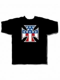 T-Shirt USA Kreuz