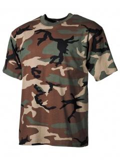US Militär T-Shirt Woodland
