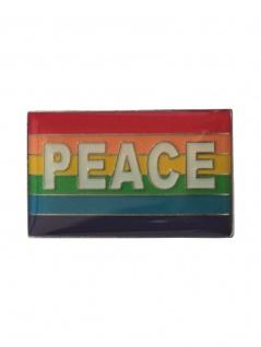 Anstecker Pin Flagge Regenbogen Peace