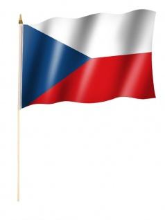 Stockfahne Tschechische Republik