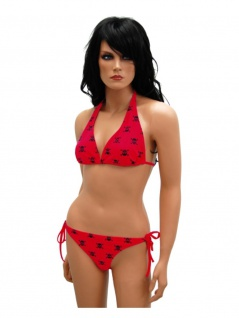 Bikini Totenkopf in rot