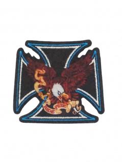 Aufbügler Kreuz mit Adler