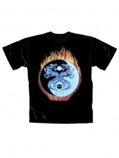 T-Shirt Drachen Yin Yang