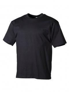 T-Shirt schwarz uni 180g/m²
