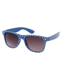 Sonnenbrille 50er Rockabilly Style blau Punkte