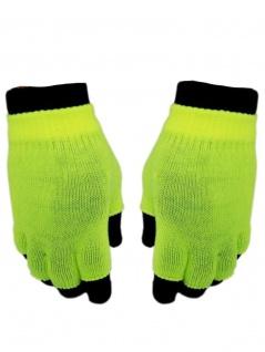 Multi Handschuhe neon gelb 2 in 1