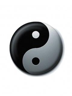 2 Button Yin Yang