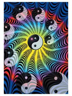 Yin und Yang Posterfahne