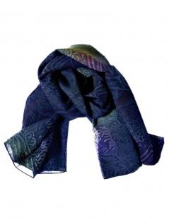Polyester Tuch blaue Textur
