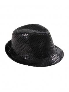 Clubstyle Party Hut schwarz mit Pailletten