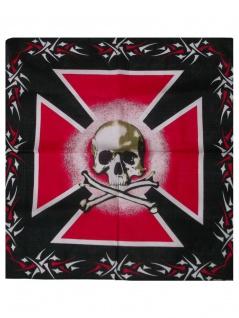 Bandana Totenkopf Kreuz