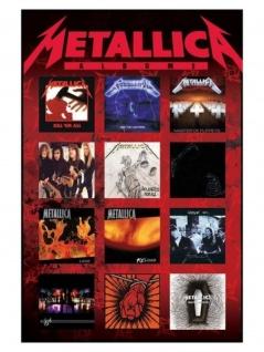Poster Metallica Albums