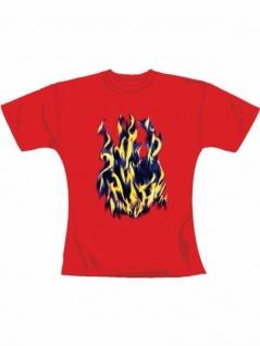 Girl T-Shirt Flammen rot