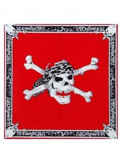 Bandana Totenkopf red