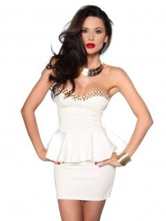 Bandeau Mini Kleid weiß mit Rockteil