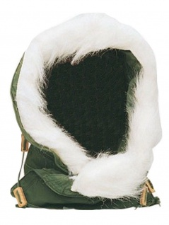 US Wintermütze mit Fell neuwertig