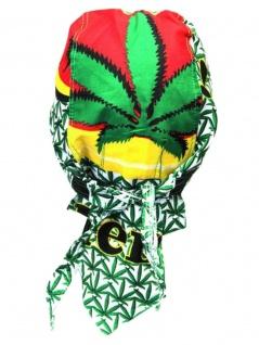 Bandana Cap Hanfblätter grün