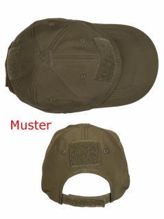 Softshell Baseball Cap schwarz mit Klett - Vorschau 2