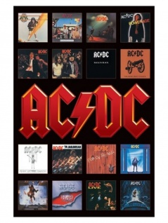 Poster ACDC Album Covers
