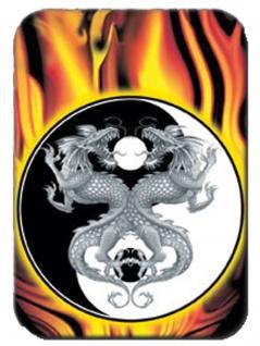 3 Aufkleber Yin Yang