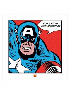 Poster Art Print Captain America
