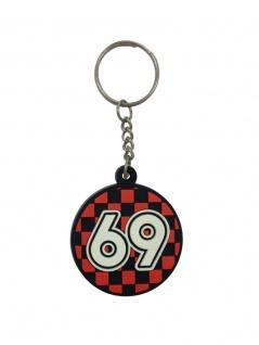 Schlüsselanhänger 69 aus Gummi