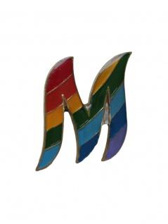 Anstecker Pin M Regenbogen