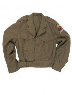 U.S. IKE Jacke mit Abzeichen neuwertig