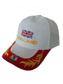 Baseball Cap England weiß