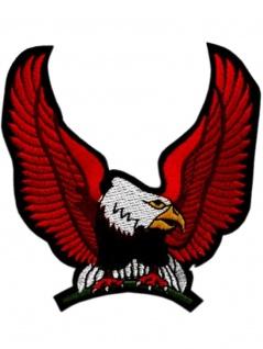 Aufnäher Sitzender Adler rot