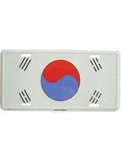 Autoschild S?d Korea Flagge