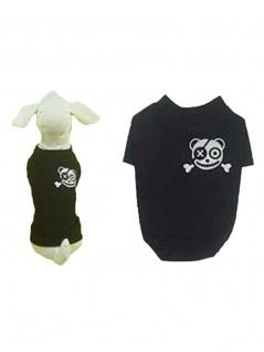 Hunde T-Shirt schwarz mit Teddypirat