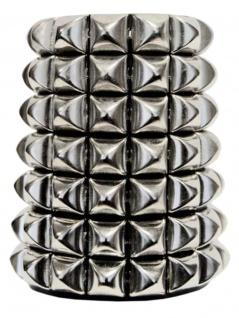 Leder Armband Pyramiden Nieten 7 reihig