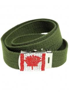 Textil Gürtel Canada Strasssteine
